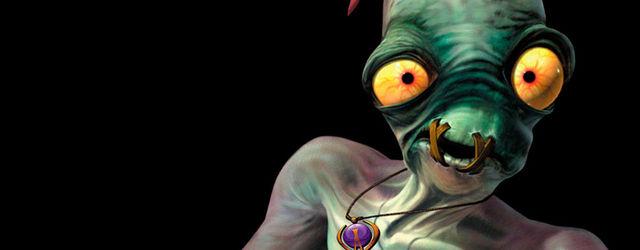 Se muestra el logo de Oddworld: Hand of Odd
